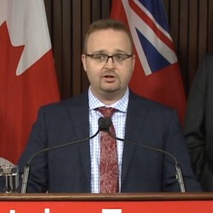 Stephen Blais speaking.